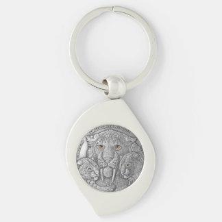 WILD THINGS: Silver Smiladon Family - Key Ring