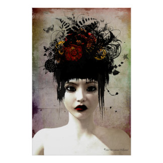 Wild Thoughts Surreal Gothic Art Poster