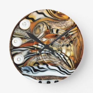 Wild tiger, animal, africa, safari, photography clock
