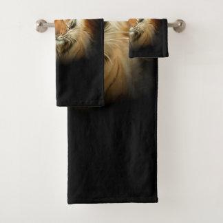 Wild Tiger Bathroom Towel Set