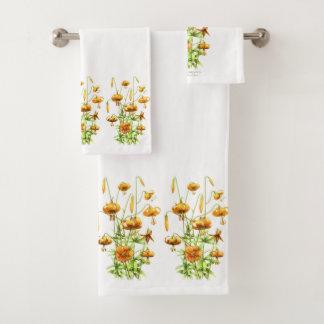 Wild Tiger Lilies Bath Towel Set
