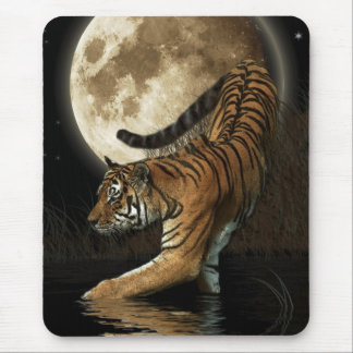 WILD TIGER & MOON Mousepad