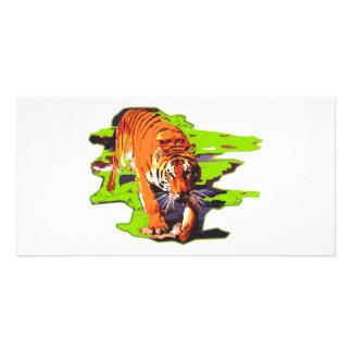 Wild Tiger Photo Card Template