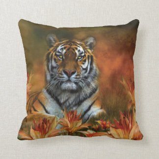 Wild Tigers Art Designer Pillow