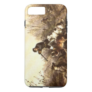 Wild Timber Wolf Hunt with Dogs iPhone 7 Plus Case