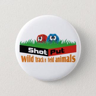 wild track and field animals 2 inch round button