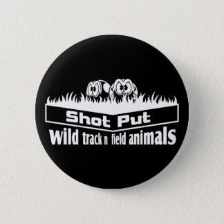 wild track and field animals 2 inch round button