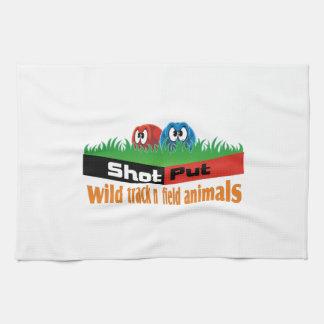 Wild track and field animals kitchen towel