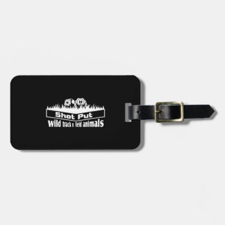 wild track and field animals luggage tag