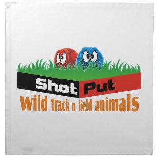 Wild track and field animals napkin