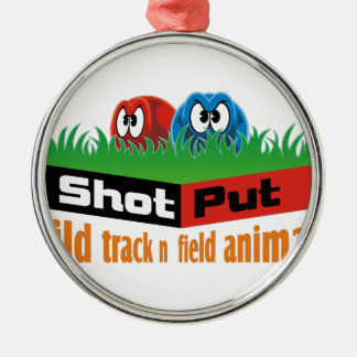 Wild track and field animals Silver-Colored round ornament