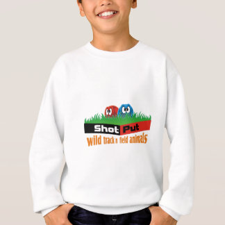 Wild track and field animals sweatshirt