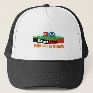 Wild track and field animals trucker hat