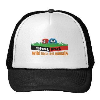 Wild track and field animals trucker hat