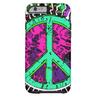 Wild Trippy Hippie Peace Sign Tough iPhone 6 Case