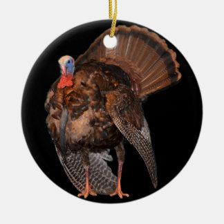 Wild Turkey (Alabama, Massachusetts, Oklahoma) Round Ceramic Ornament