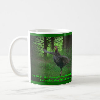 Wild Turkey and Isaiah 40:31 Coffee Mug