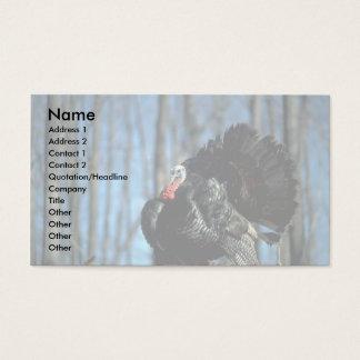 Wild turkey business card