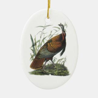 Wild Turkey by Audubon Ceramic Ornament