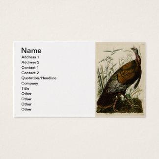Wild Turkey by John Audubon Business Card