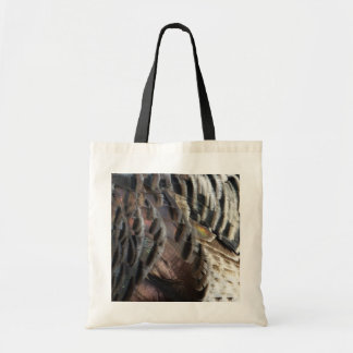 Wild Turkey Feathers I Abstract Nature Design Tote Bag