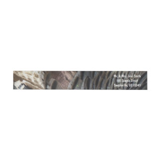 Wild Turkey Feathers I Abstract Nature Design Wrap Around Label