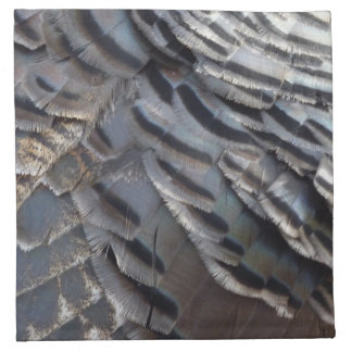 Wild Turkey Feathers II Abstract Nature Design Napkin