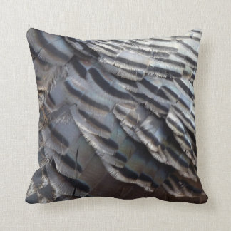 Wild Turkey Feathers II Abstract Nature Design Pillows