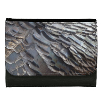 Wild Turkey Feathers II Abstract Nature Design Wallet For Women