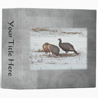 Wild Turkey in Snowy Field Vinyl Binder