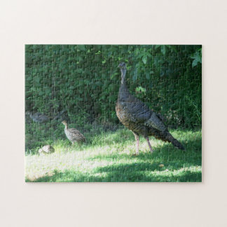 Wild Turkey, Photo Puzzle. Jigsaw Puzzle