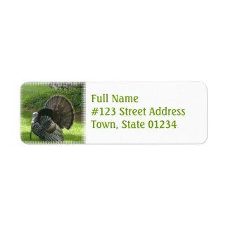 Wild Turkey Return Address Label