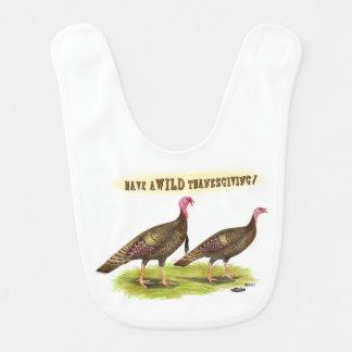 Wild Turkey Thanksgiving Bib