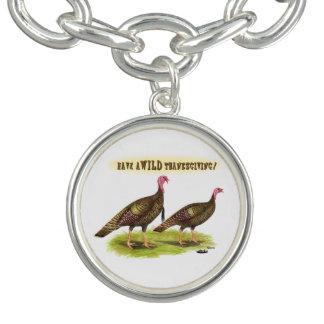 Wild Turkey Thanksgiving Charm Bracelet