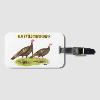 Wild Turkey Thanksgiving Luggage Tag