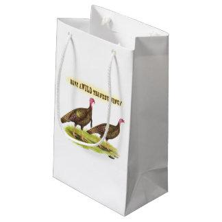 Wild Turkey Thanksgiving Small Gift Bag