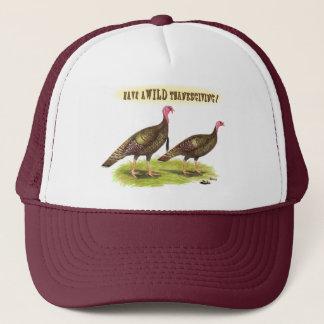 Wild turkey Thanksgiving Trucker Hat