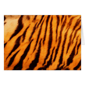 Wild & Vibrant Orange Tiger Stripes Card