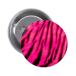 Wild & Vibrant Pink Tiger Stripes 2 Inch Round Button