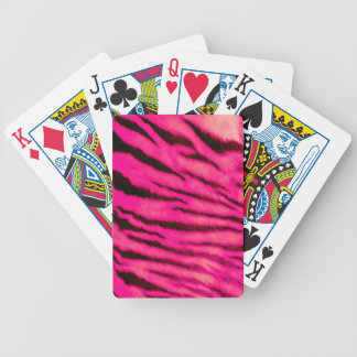 Wild & Vibrant Pink Tiger Stripes Bicycle Playing Cards