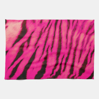 Wild & Vibrant Pink Tiger Stripes Kitchen Towel