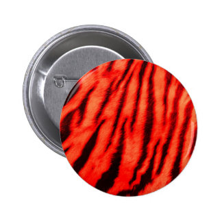Wild & Vibrant Red Tiger Stripes 2 Inch Round Button
