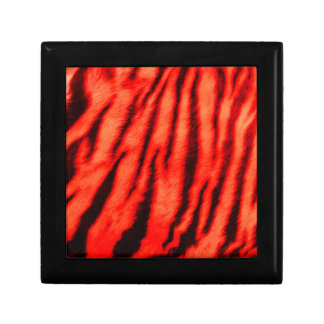Wild & Vibrant Red Tiger Stripes Jewelry Boxes