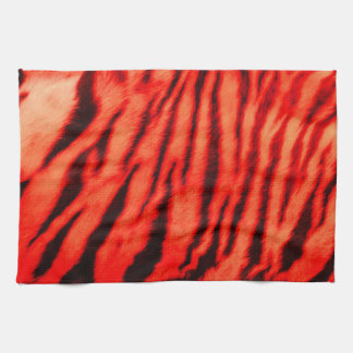 Wild & Vibrant Red Tiger Stripes Kitchen Towel