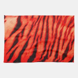 Wild & Vibrant Red Tiger Stripes Towels