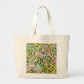 Wild Violet Petals Large Tote Bag