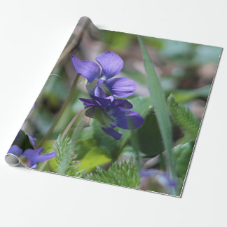 Wild violets wrapping paper