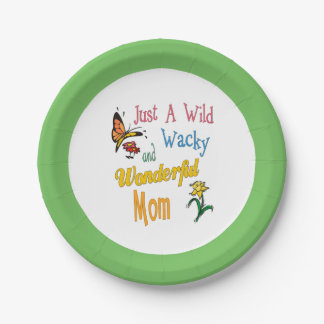 Wild Wacky Wonderful Mom Gifts Paper Plate
