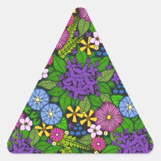 Wild Wallflowers Triangle Sticker
