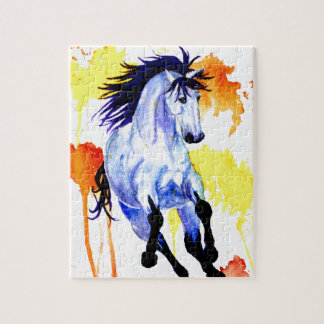 Wild Watercolor Horse Jigsaw Puzzle